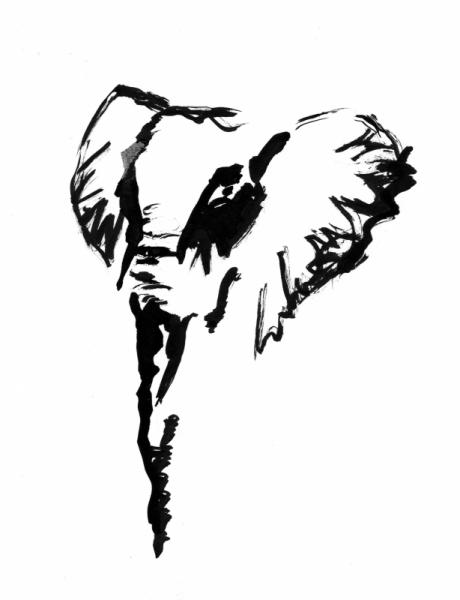 DESSIN Lphant Sauvage Savane Afrique Elphant II