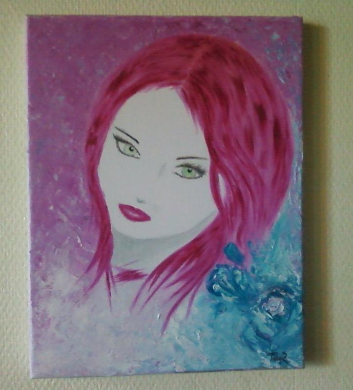 tableau peinture art visage femme