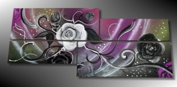 tableau peinture tableau fleur tableau