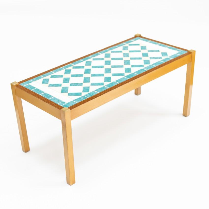 table basse en mosaique