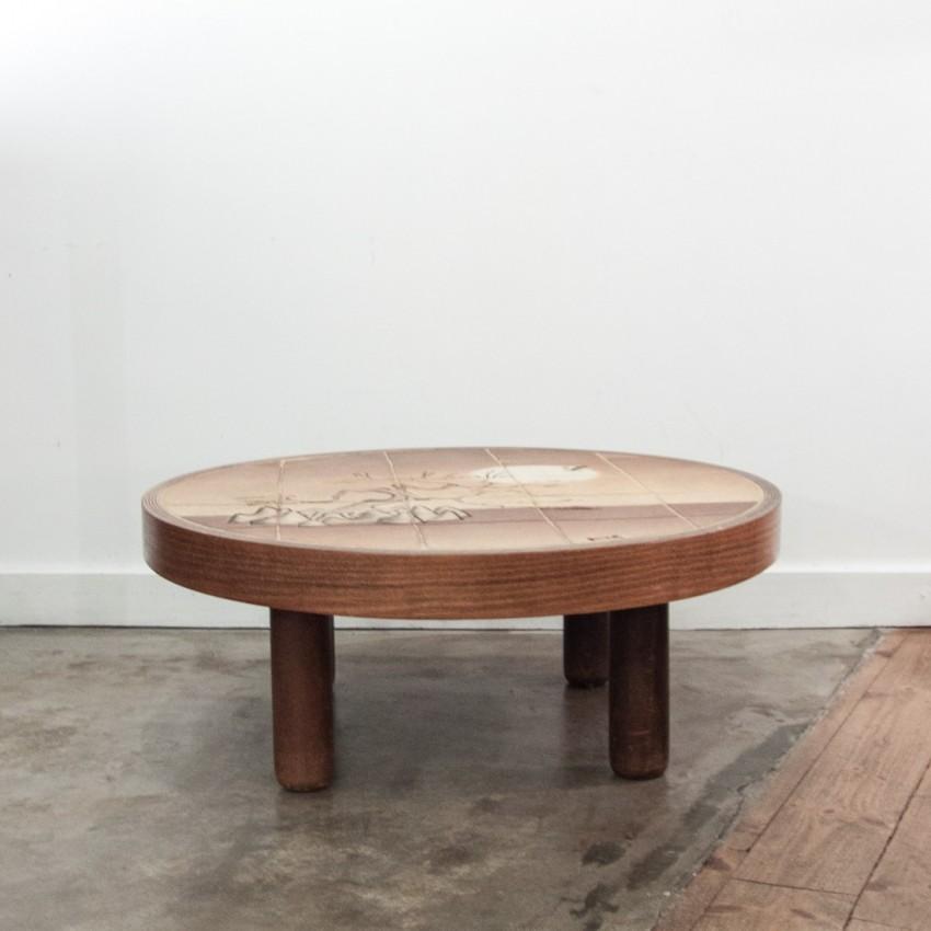 tres belle table basse ceramique barrois