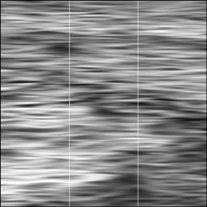 """am-meer #1"", CBA (ComputerBasedArtwork), Digitaldruck auf Leinwand, 120 cm x 120 cm (dreiteilig, je 40 cm x 120 cm), 2013"