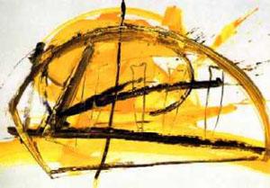 Ohne Titel, Acryl auf Leinwand, 70 cm x 100 cm, 1994