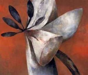 Große Blüte, (zwischen den Erscheinungsformen), Öl / Nessel, 180 cm x 220 cm, 1995