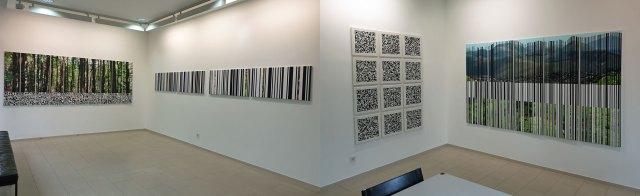 Innenräume der Galerie mit Arbeiten von Martin R. Becker