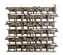 6 x 8 Koeien - brons - 80x18x12 cm