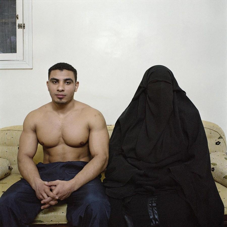 Hussein et sa mère, Le Caire 2007