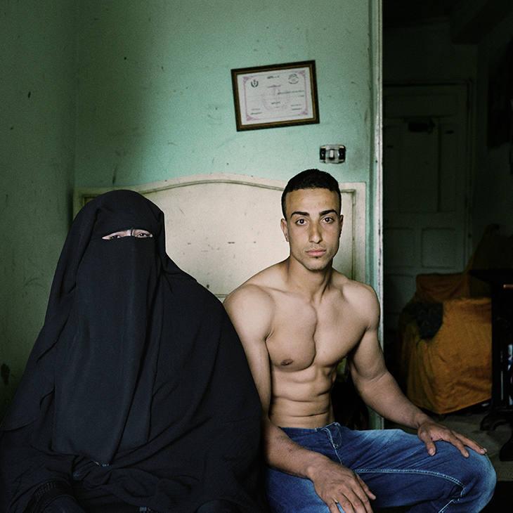 Souhail et sa mère, Alexandrie 2013