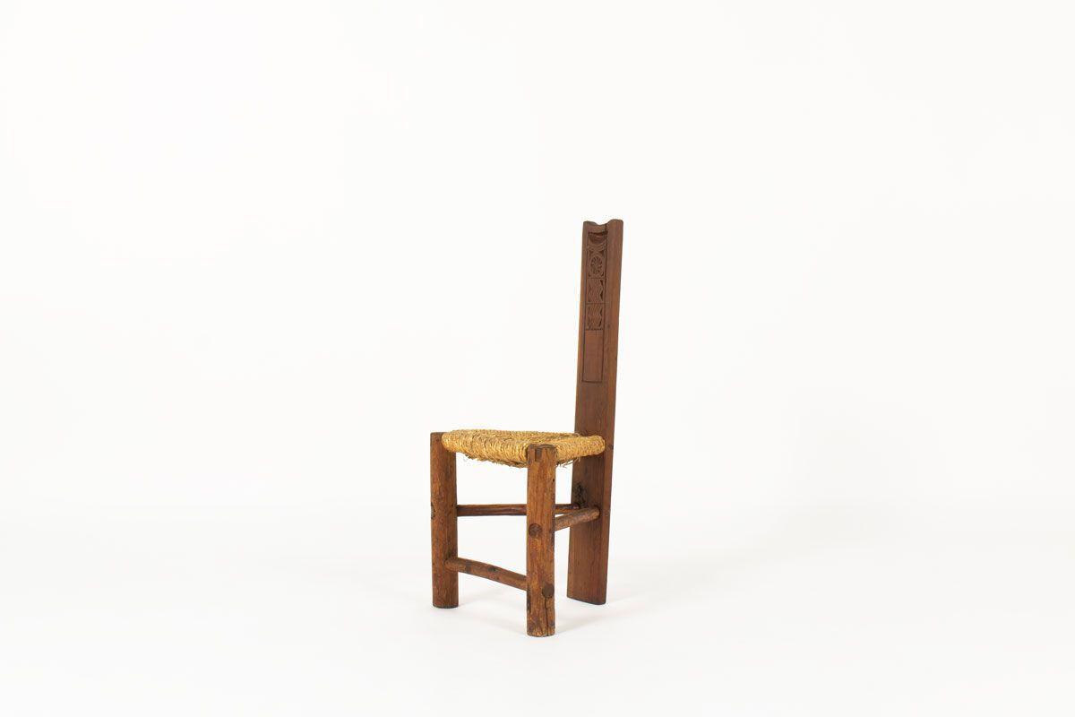chaise vintage avec motifs africain
