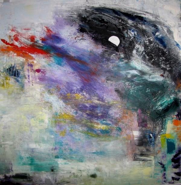 Lune peinture Jean Jacques Rossbach
