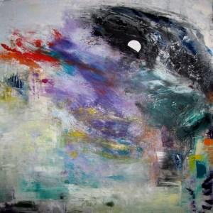 Lune, peinture de Jean-Jacques Rossbach