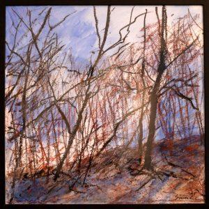 Forêt en février, peinture de Simon C.