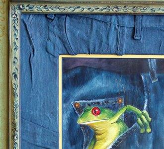 Besondere Passepartouts: Upcycling einer alten Jeans
