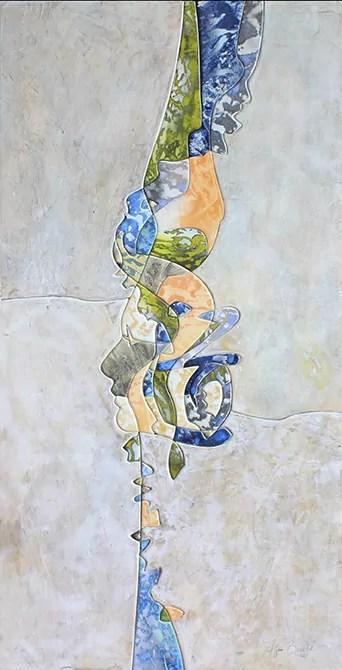 """""""Amphitrites"""" peinture Agnès Bouche galerie JPHT"""