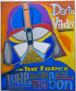 Dark Vader oeuvre street art Tarek