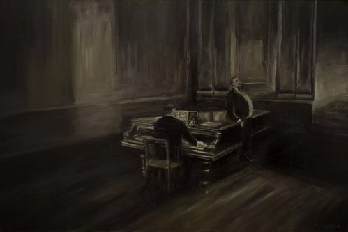 Akademie - Thierry Chavenon 80 x 54 cm Huile sur toile de lin