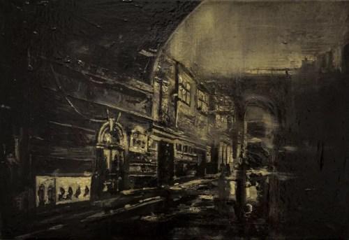 Fog - Thierry Chavenon 35 x 24 cm Pochade à l'huile Sur Carton Entoilé