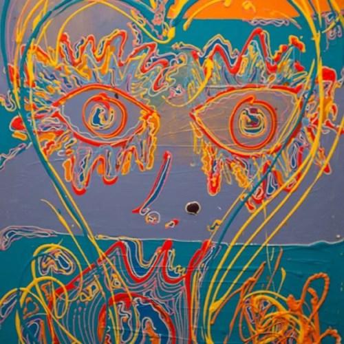 La fille cadette - 2018 - 100 x 80 cm -Acrylique sur toile - 2800€