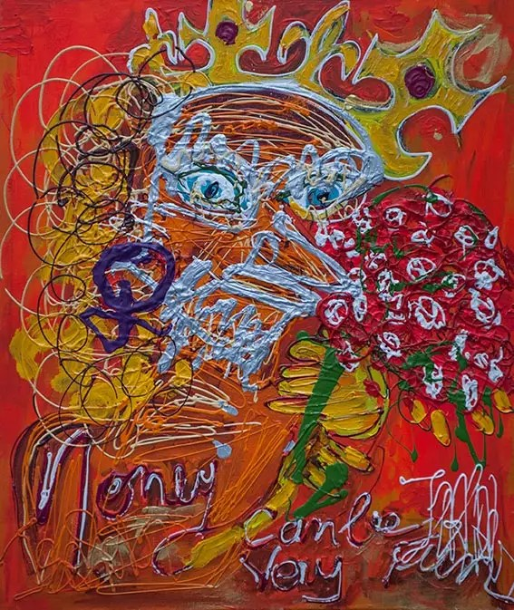 Le cousin germain - 2018 - 73 x 60 cm -Acrylique sur toile