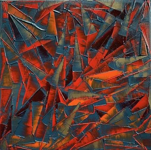Carole Jury FLYING KITE 5 Peinture à l'huile 20,30 cm x 20,30 cm