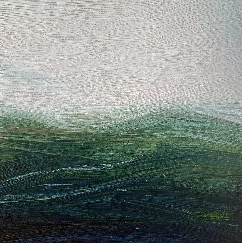 Carole Jury Peinture à l'huile 30,4 cm x 30,4 cm