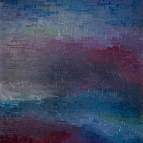 Carole Jury LA VIE EN ROSE SERIES Peinture à l'huile 129 cm x 152,9 cm