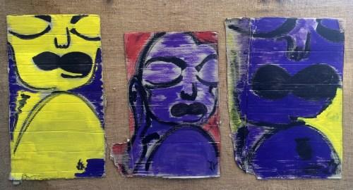 Les trois grâces Isa Sator 180 x 90 Technique mixte sur bois