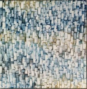 Carole Jury NEVER FORGET Series Peinture à l'huile 60,9 cm x 60,9 cm