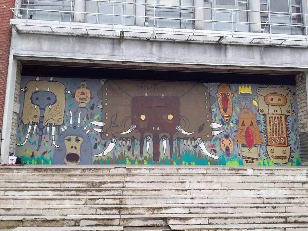 Galerie D Art Bourges tarek - le mur de bourges - art contemporain peintures