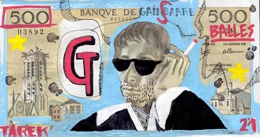 500 balles - Tarek - Gainsbourg - Galerie JPHT
