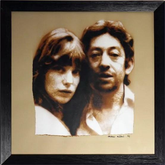 Mat Elbe - Gainsbourg - 30x30_cadre - Galerie JPHT