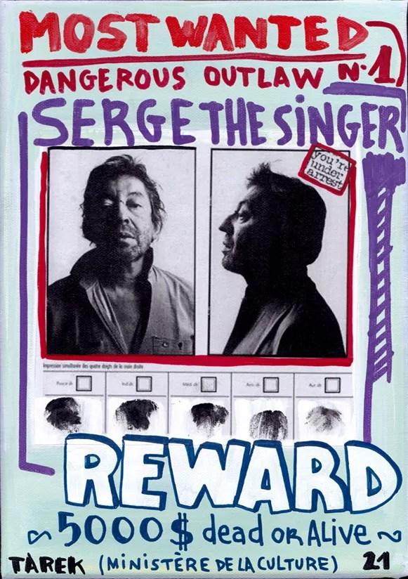 Most Wanted - Tarek - Gainsbourg - Galerie JPHT