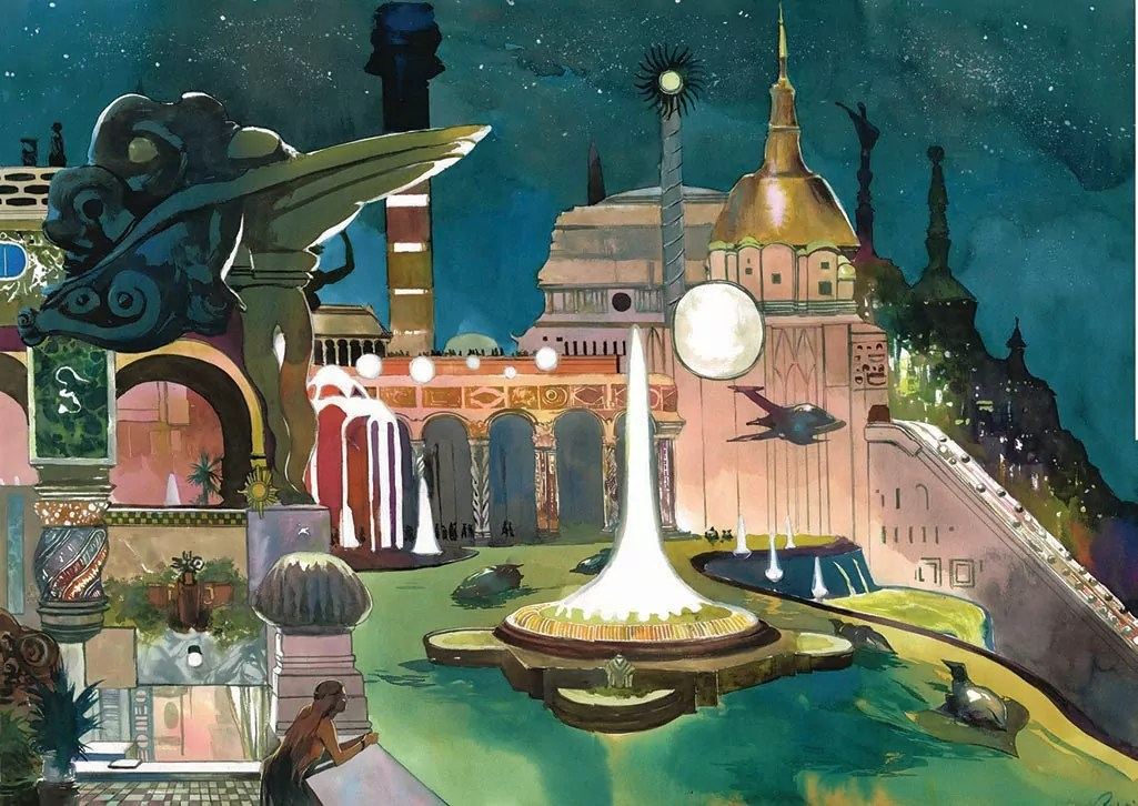 Science fiction - une nuit en Atlantide - Pompetti