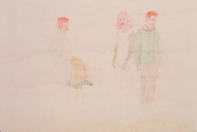 """""""Zeit der Nordwanderung"""" Aquarellfarbe, Tinte, Bleistift auf Leinwand 190 Y 270 cm € 12 000"""