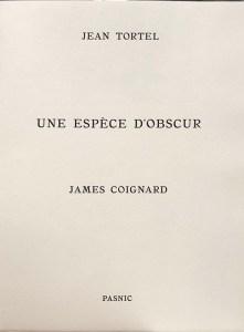 James Coignard, Jean Tortel, Livre d'artistes