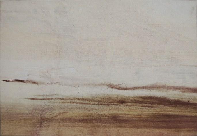 GREVE 2, 2017, acrylique sur toile, 38 x 55 cm
