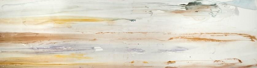 RIVES 1, acrylique sur toile, 73 x 278 cm