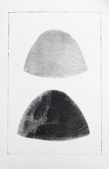 Sans Titre, monotype, 65 cm x 50,5 cm, 2018