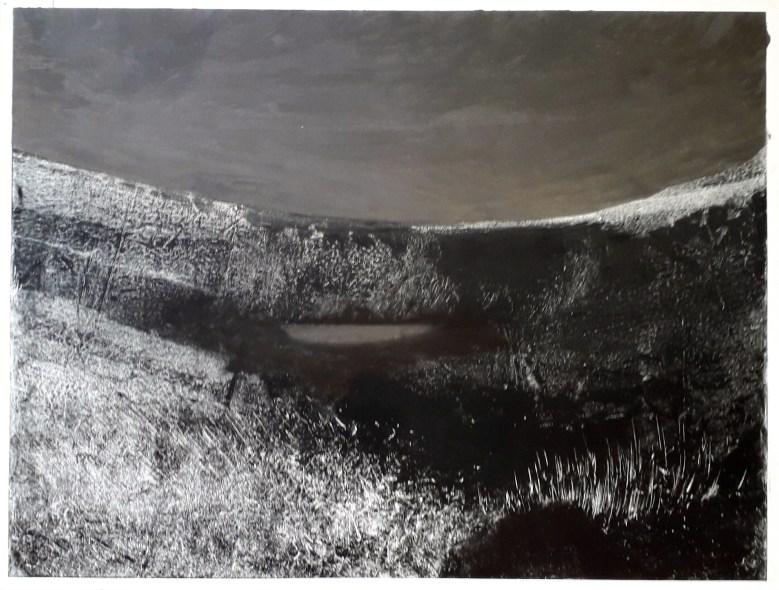 Sans Titre, monotype, 50,5 cm x 65 cm, 2018