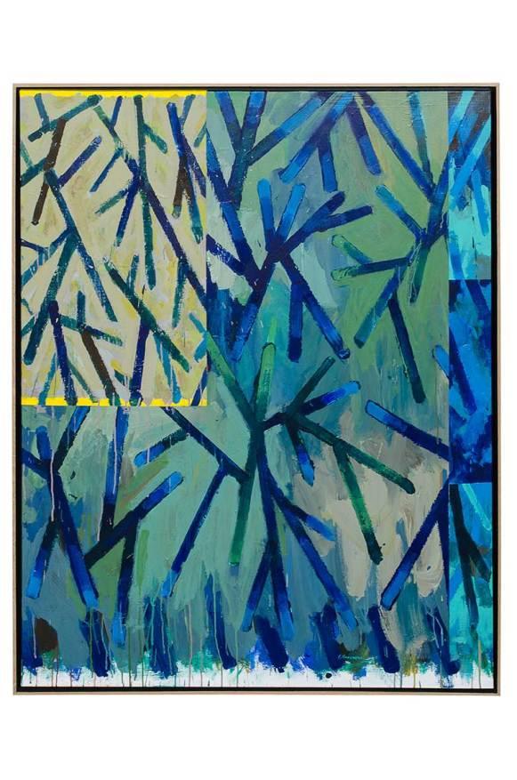 Ramures – Peinture n°1, 2015. Acrylique sur toile, 146 x 114 cm