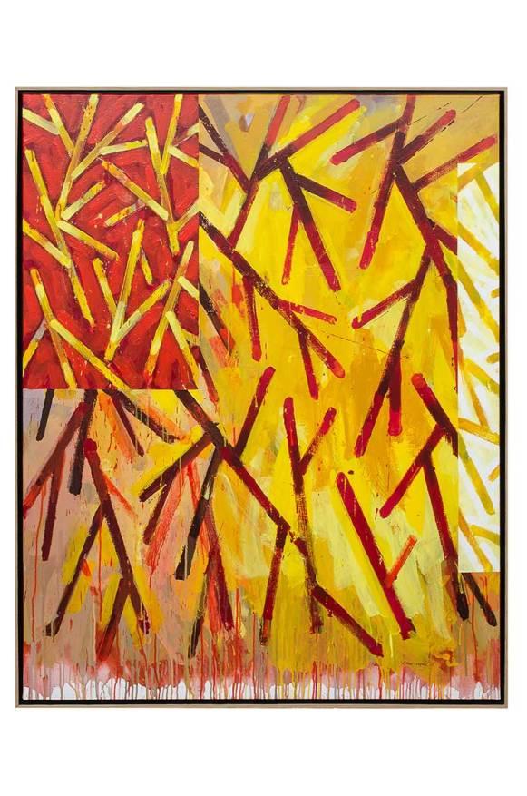 Ramures – Peinture n°2, 2015. Acrylique sur toile, 146 x 114 cm