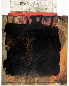 Sans titre. Technique mixte et collage sur papier, 30 x 24 cm.