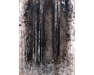 Sous Bois 28, 2011. Encre de chine et sépia sur papier, 76 x 57 cm.