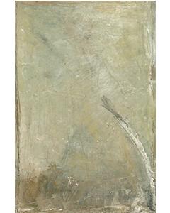 Tige blanche crayonnée, 2011. Huile et crayon sur bois, 118 cm x 79 cm.