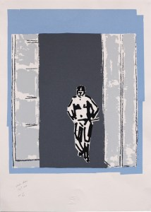 Pierre Buraglio, Station debout, 2015. Sérigraphie Anagraphis 5/20, 70 cm x 50 cm.