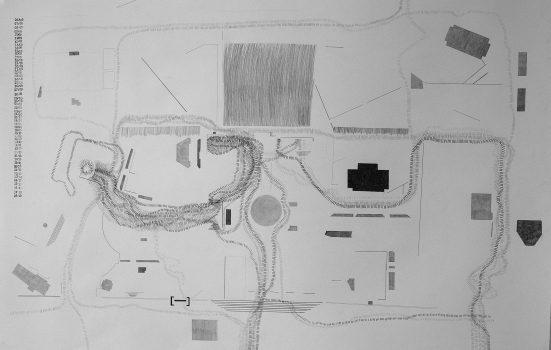"""Melisa Lopez, """"Diario: localizaciones de lo indómito"""" 2019. Technique mixte sur papier, 65 cm x 100 cm."""