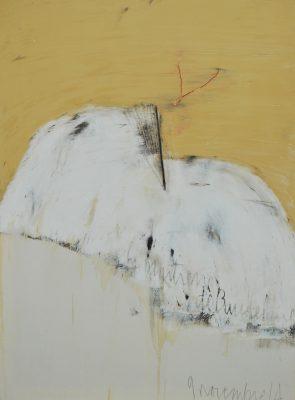 """Jean Pierre SCHNEIDER """" La maîtresse de Baudelaire du 5 août 14 """", 2014. Technique mixte. 195cm x 130 cm."""