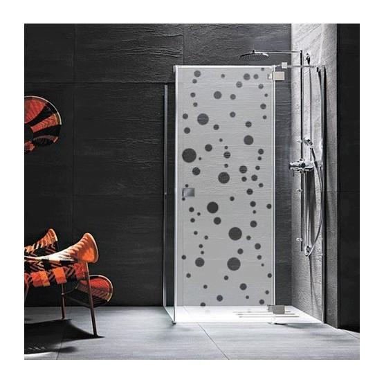 sticker paroi de douche bulle