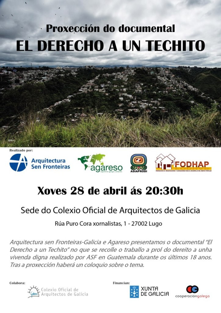 Proxección do documental 'El Derecho a un Techito' en Lugo