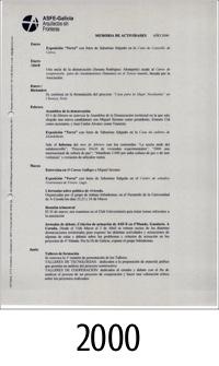 2000_ASFEG_Memoria de actividades